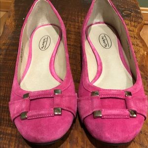 Talbots pink suede flats